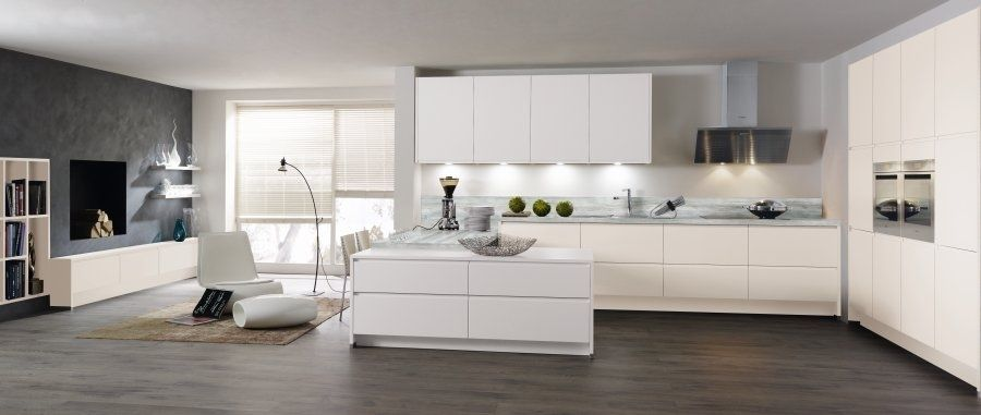 modern kitchen. frameless cabinetry